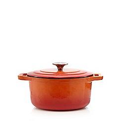 Home Collection - Orange 20cm cast iron casserole dish