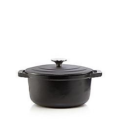 Home Collection - Black cast iron 20cm casserole dish