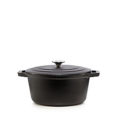 Home Collection - Black 24cm cast iron casserole dish