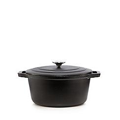 Home Collection - Black cast iron 24cm casserole dish