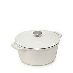 Home Collection - Cream 24cm cast iron casserole dish