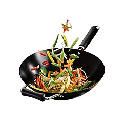 Ken Hom - Non-stick carbon steel 'Performance' 36cm induction wok