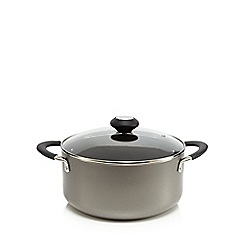 Home Collection Basics - Non stick 24cm aluminium stock pot with lid