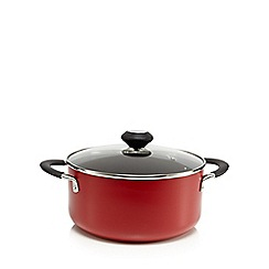 Home Collection Basics - Aluminium red 24cm non stick stock pot
