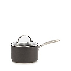 Home Collection - Hard anodised 18cm non-stick sauce pan