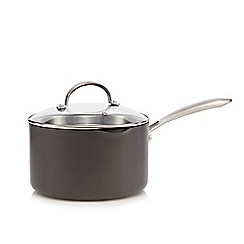 Home Collection - Hard anodised 20cm non-stick sauce pan