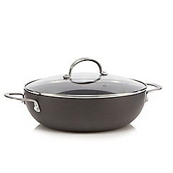 Home Collection - Hard anodised 28cm non-stick wok