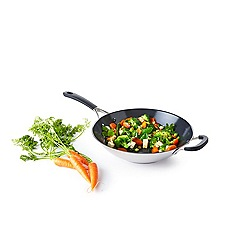 Green Pan - Stainless steel 'Minneapolis' 30cm induction wok