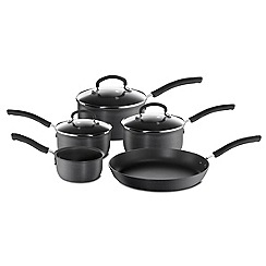 Tefal - Grey 'Inspire' hard anodised 5 piece set