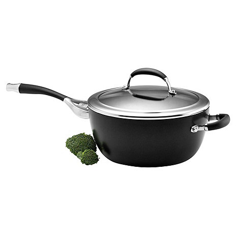 Circulon Elite - Elite hard anodised 26cm 'Premier' covered chef's pan