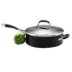 Circulon Elite - Elite hard anodised 28cm 'Premier' covered saute pan