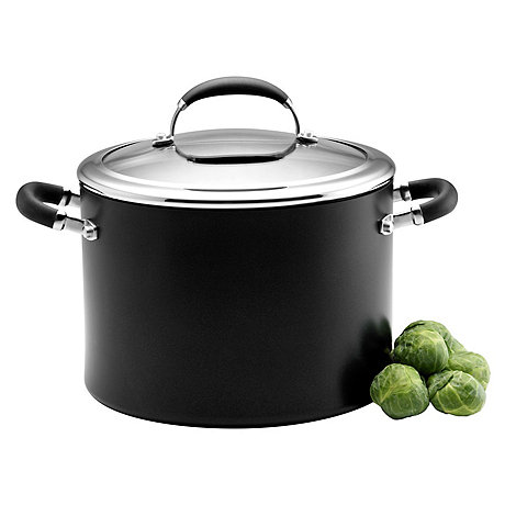Circulon Elite - Elite hard anodised 'Premier' 24cm covered stockpot