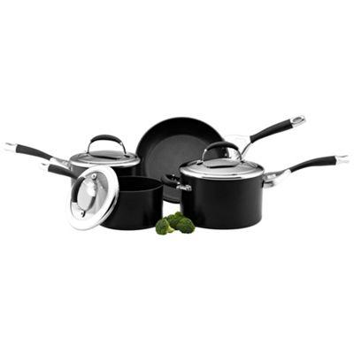 Circulon Elite Premier non stick hard anodised 4 piece pan set - . -