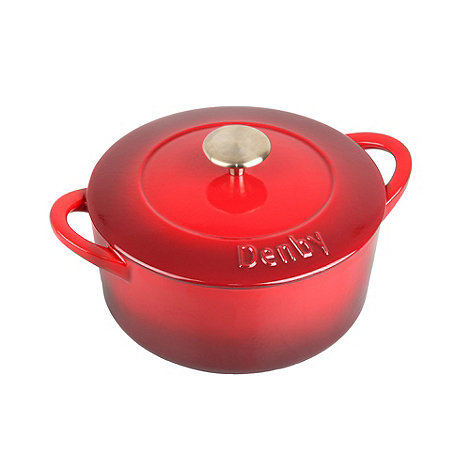 Denby - Cast iron 22cm +Cherry+ covered casserole dish
