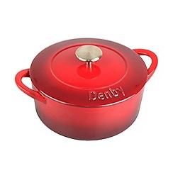 Denby - Cast iron 24cm 'Cherry' covered casserole dish