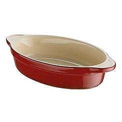 Denby - Stoneware 18cm 'Cherry' oval dish