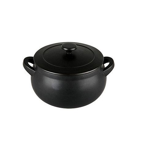 Denby - Stoneware 2.9L Jet black covered casserole dish