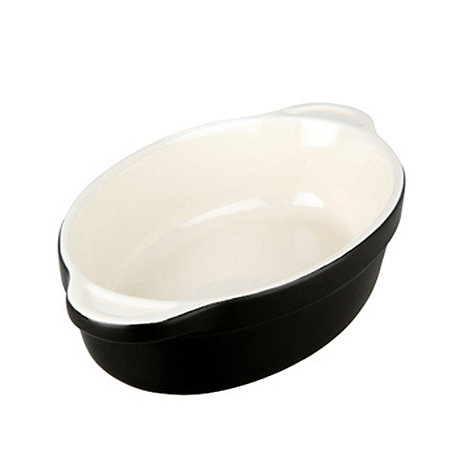 Denby - Stoneware 18cm Jet black oval dish