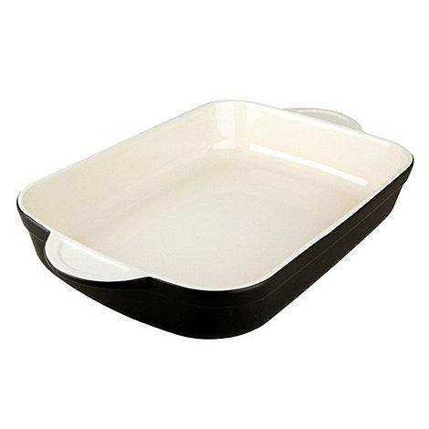 Denby - Stoneware 32.5cm Jet black rectangular dish