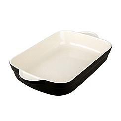 Denby - Stoneware 25.5cm Jet black rectangular dish