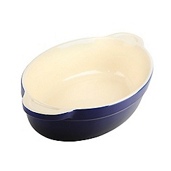 Denby - Stoneware 26cm Imperial blue oval dish
