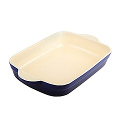 Denby - Stoneware 32.5cm Imperial blue rectangular dish