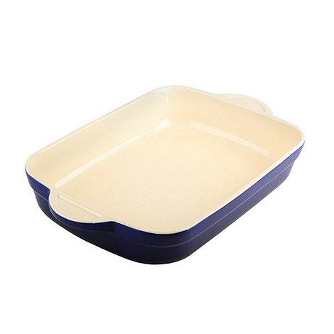 Denby - Stoneware 32.5cm Imperial blue rectangular dish