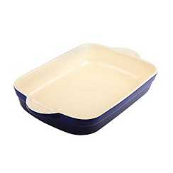 Denby - Stoneware 25.5cm Imperial blue rectangular dish