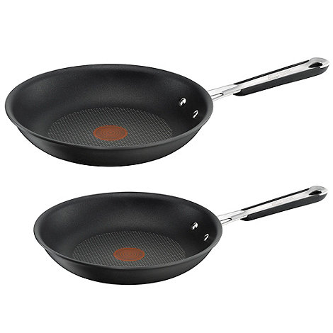 Jamie Oliver - By Tefal hard anodised aluminium frying pan twin pack