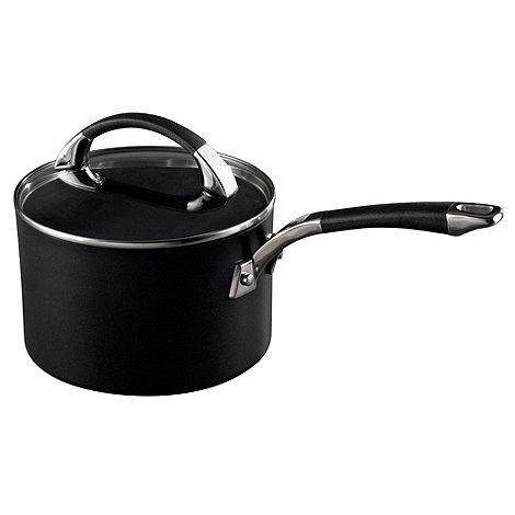 Raymond Blanc - Black hard anodised 18cm saucepan