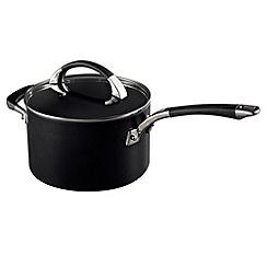 Raymond Blanc - Black hard anodised 20cm saucepan