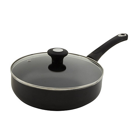 Debenhams - Aluminium non-stick 24cm covered saute pan