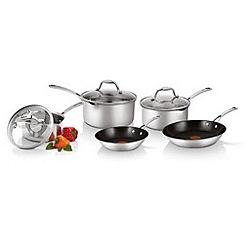 Tefal - Tefal four piece aluminium 'Easystrain' non-stick pan set