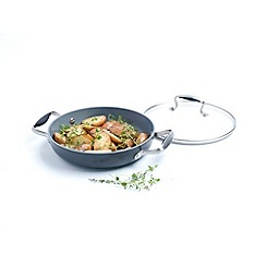 Green Pan - Michel roux by greenpan hard anodised ceramic non-stick 24cm saute pan