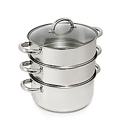 Home Collection - Silver stainless steel 24cm steamers with lid