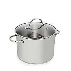Home Collection - Stainless steel 24cm stock pot with lid
