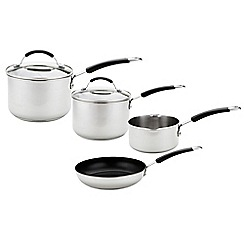 Meyer - 4 piece stainless steel pan set