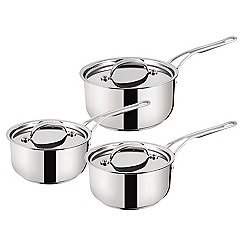 Jamie Oliver - By Tefal Stainless Steel professional series 3 piece saucepan set 16/18/20cm