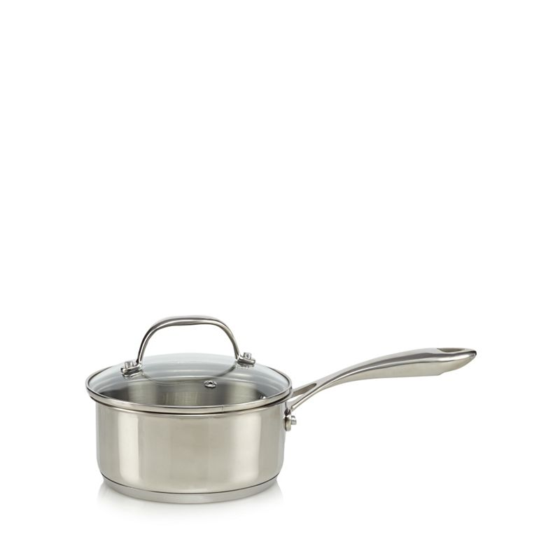 Home Collection Stainless steel 20cm saucepan with lid
