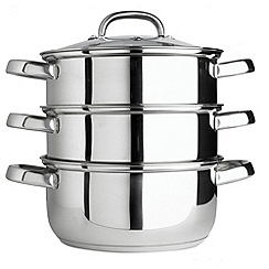 Debenhams - Stainless steel 24 cm multi level steamer