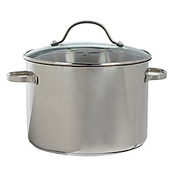 Debenhams - Stainless steel 24cm stock pot