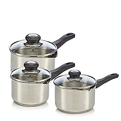 Judge - 3-piece saucepan set with draining lids