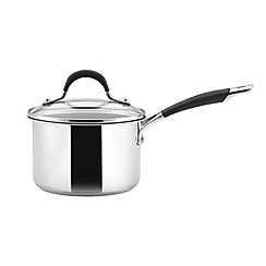 Circulon - Stainless steel 16cm covered saucepan