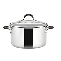 Circulon - 'Momentum' stainless steel 24cm covered stockpot