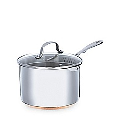 Home Collection - Stainless steel 18cm saucepan with lid and copper base