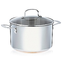 Home Collection - Stainless steel 24cm stock pot with lid and copper base