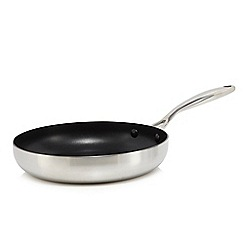 J by Jasper Conran - 24cm Silver tri-ply frying pan