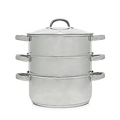 Home Collection - Set of three stainless steel 24cm steamers with lid