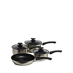 Home Collection - Four piece stainless steel saucepan set