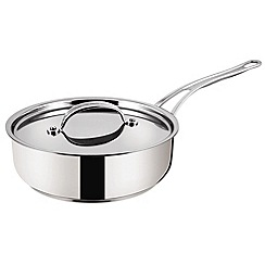 Jamie Oliver - Premium' stainless steel 24cm saute pan by Tefal